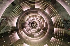 Stuff and things (- Hob -) Tags: longexposure white lightpainting abandoned underground spiral concrete tunnel led nophotoshop subterranean tyneside nopostprocessing culvert newcastleupontyne pwm urbex airraidshelter pulsewidthmodulation singleexposure 2421 sooc perspexrod
