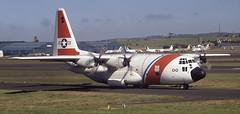 1500. United States Coast Guard Lockheed HC-130H Hercules (Ayronautica) Tags: aviation scanned 1991 lockheed 1500 hercules prestwick uscg unitedstatescoastguard egpk hc130h ayronautica