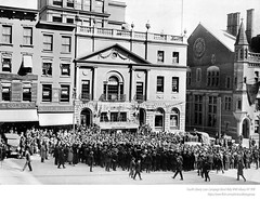 Fourth Liberty Loan Campaign Bond Rally 1918 WWI (albany group archive) Tags: albany ny liberty bond rally 1918 71 73 state street james mayor watt oldalbany history early 1900s old vintage photos historic historical photographs judge george addington harry cohen millerbeaumontvignolatailorsanfordlawofficeshoracebullinsurance savardcoburn wewoolardattorneylloydsplateglass jjm masons masonic bank