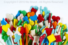 Plastic Toothpicks (weeviltwin) Tags: color macro diamonds hearts photography colorful plastic commercial toothpick toothpicks clubs product spades plasticsindustry weshootcom