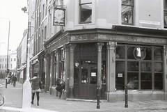 The Ten Bells Pub (goodfella2459) Tags: white black london history film bells analog 35mm lens jack pub nikon mary crime annie ten kelly plus 24mm af nikkor whitechapel milf ilford fp4 f4 spitalfields chapman ripper 125 the f28d