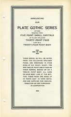 Plate Gothic Type Specimen (Dunwich Type) Tags: typography font type typespecimen