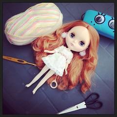 365 Workspace Project (007/365) (EssHaych) Tags: doll crochet hats wip workspace blythe etsy erikosemporium