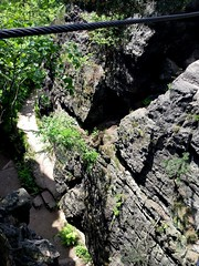 Nonnensteig - Zittau (109) (kaleidoskopspeicher) Tags: sea cliff mountain water rock landscape wasser outdoor via landschaft montain ontour felsen klettersteig ferrata viaferrara