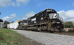 NS 2520 leads NS Train 290 in Tallapoosa, GA (RedneckRailfan610) Tags: railroad ga georgia birmingham god ns district alabama trains east end division 290 emd intermodal tallapoosa autoracks sd70 sd70m2 ns2520 ns2650