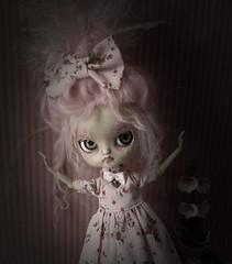 Fly away, little dal. (Pink Anemone) Tags: pink doll god dal more oh much too pinocchio repaint prettydreadfulcustombypinkanemone