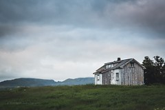Abandoned house in Lofoten, Norway (B.AA.S.) Tags: old sky house mountain building tree history abandoned nature grass norway clouds norge memories damaged lofoten 2016 leknes badcondition