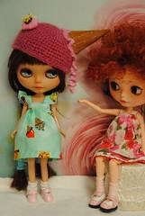 DSC_3794 (Maguynel ) Tags: blythe bonnet cornet glace crochet