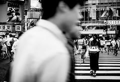 .[follow] the crowd. (Shirren Lim) Tags: street people bw summer tokyo japan shibuya crossing fuji cityscape
