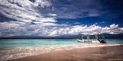 Dream Dives (Tirta Winata) Tags: indonesia lombok ntb west nusa tenggara sky cloud clouds boat diving beach landscape canon canonasia canonindonesia fineart panorama panoramic 6x12 612