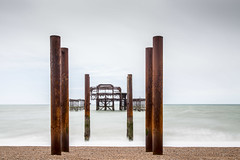 Brighton West Pier July 2016 - 1 (andythekeys) Tags: uk longexposure england metal sussex ruins brighton decay westpier nd neutraldensity nd1000