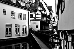 HWW (eggii) Tags: windows bw water germany mono hotel ulm huser hww riverdonau fischerundgerberviertel fishingdistricthouses