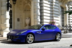 Ultra Blue FF (MANETTINO60) Tags: ferrari ff paris hotel shangri la shangrila arabsupercar engine v12 v8 worldcars purple cars supercars blue mat bleu