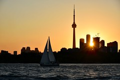 Evening sail (krys.mcmeekin) Tags: sailing boat lake cntower toronto sunset nikon d750