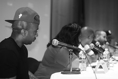 IMG_9570bw (Brotha Kristufar) Tags: nyc bw ny college monochrome closeup portraits canon campus 50mm marketing athletics shoes panel zoom market culture indoor nike 300mm jordan business indoors footwear portraiture sneaker week conference consultant discussion hip hop press wes owner businesses ewing portrat panelist evers medgar panelists entreprenuer brokklyn