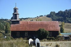 church with a corrugated tin roof (cam17) Tags: southamerica chile chiloe islachiloe tinroof corrugatedtin corrugatediron ruralchurch smallchurch church