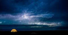 Night Light (Axiz Photography) Tags: camping summer storm nature night tent lightning