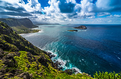 Makapu'u Beach Hawaii (meeyak) Tags: ocean travel blue summer vacation storm mountains nature clouds outdoors island hawaii nikon warm paradise view cloudy oahu hills adventure pacificocean rainstorm makapuu d800 makapuubeach 808 makapuupoint meeyak