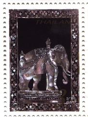 Japan-Thailand 2007 (nacreperlamoto1) Tags: stamp briefmarke perlmutt nacre