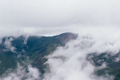 Distant Neighbor (Alex Holyoake) Tags: scotland unitedkingdom gb mountain mountainrange bennevis river hill rockface driving mirror car clouds mist