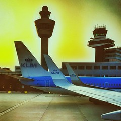 KLM tail and winglets (Ruud Otter) Tags: klm iphone schiphol boeing737 airport winglet airplane