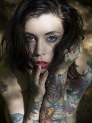 Alessandra Guglielmetti (elparison) Tags: tatoo nude light beauty pussy breast tits body woods bosco montagna