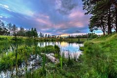 St James Pond - Tredegar (karlmccarthy1969) Tags: pond water sky clouds lake green