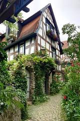 pittoresk (barmicity) Tags: taunus idstein fachwerkhaus blumen pflanzen weg idyllischwohnen stadt altstadt