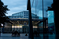 Potsdamerpltaz Bahnhof | reflection (sabrandt) Tags: berlin potsdamerplatz germany europe bahnhof subway reflection evening