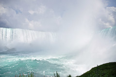 weather maker (christiaan_25) Tags: niagarafalls waterfall falls horseshoe canadian water river landmark nature outside outdoors colors blue green sky clouds epic mist ontario niagara explore aug112016 243