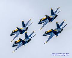 BLUE ANGEL DIAMOND FLYING AWAY (AvgeekJoe) Tags: blueangels boeingfa18 boeingfa18hornet boeingfa18c boeingfa18chornet d5300 dslr fa18hornet fa18chornet navalaviation nikon nikond5300 usnavy usnavyblueangels usn fa18 fa18c