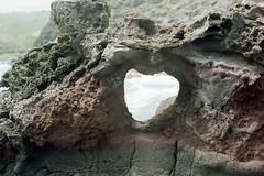 Heart Stone (kawehna) Tags: pentax k1000 35mm fujifilm colorfilm filmisnotdead ishootfilm asahi hawaii travel adventure blowhole maui vacation wanderlust pacificocean island