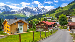 Village of Murren, Jungfrau region (mandar_haridas) Tags: switzerland europe swiss jungfrau region jungfrauregion jungfraujoch top topofeurope wengen murren lauterbrunnen summer july beautiful green landscape interlaken kleine scheidegg train town village alps mountains lakes