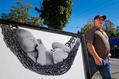 Snug (johnjackson808) Tags: bopomopictures fujifilmxt1 kitsilano vancouver westbroadway baby belly hammock people photostudio streetphotography