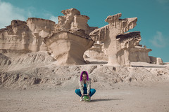 Extraterrestrial Vegetation Evaluator (SaraiDeza) Tags: fineart art photography photo creativephotography creative conceptualphotography conceptual concept film beautiful inspired explore woman girl wallie walle walle space universe nature planet desert beach blue pink violet magenta save plant