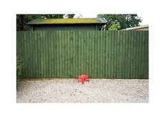 Untitled (Murray.Thompson) Tags: everyday newcastle newcastleupontyne tyneadnwear northern uk england banal mundane urban melancholy art fineart sony a7r zeiss carlzeiss digital fullframe 35mm psychogeography red green fence gloomy overcast countryside 2015 july