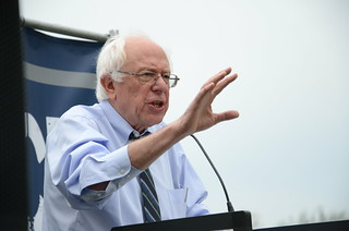 Visibly sincere, Bernie Sanders speaks plainly and without equivocatio