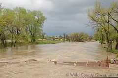 May 9, 2015 - Flooding in Weld County. (Weld County)
