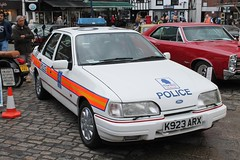 Ford Sierra Police Car (R.K.C. Photography) Tags: uk car police 1992 hertfordshire hitchin thebill fordsierra k923arx canoneos1100d hitchinclassiccarshow