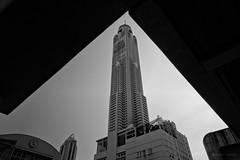 Infra (Antoine - Bkk) Tags: urban blackandwhite tower architecture thailand bangkok structure infra xm1 bayoke darktable