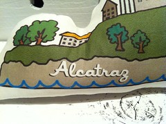 Alcatraz Pillow Plush Close Up