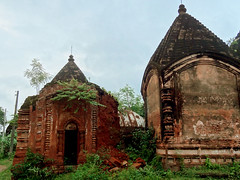 Fading into the oblivion - Terracotta Temples (debabrata.das96) Tags: two india history temple artwork ancient god terracotta twin fading shiva bengal oblivion jharkhand maluti bakedearth