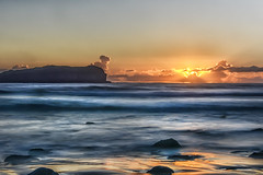 Fingal Heads #2 (PLN54) Tags: sun beach water sunrise rocks surf fingalheads
