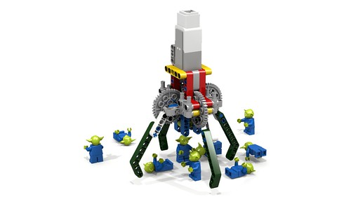 lego technic claw mindstorms grabber ldd gripper lxf ev3