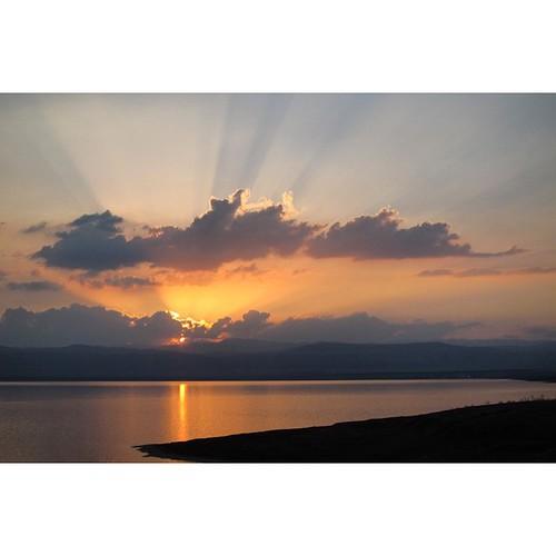 Sunset in #Greece #sun #sea