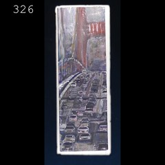 326 (anthony.papini) Tags: urban abstract painting vanishingpoint highway cityscape traffic collection series missiondistrict urbanlandscape rainynight artexplosion sanfranciscoart apaintingaday acrylicpaintingelephant 365paintings