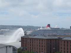 Hosepipe welcome (briancdfisher) Tags: liverpool cunard albertdock merseyside rivermersey 3queens