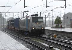 Metrans 186 187 te Rotterdam CS (erwin66101) Tags: ns bombardier traxx locomotief metrans rotterdamcentraal rotterdamcs rotterdam centraal cs praagshuttle praag shuttle goederentrein cargo goederen trein