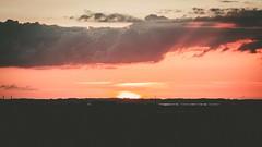 Sunset over Roskilde (Teis Auf) Tags: wood blue trees sunset red sky cloud sun lake building tree water beautiful field set sunrise denmark happy ray rays rise build danmark hdr cloudporn roskilde skyer bakke skyes hedeland skibakke