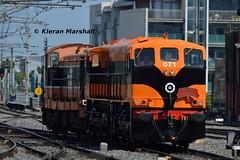 071+134 arrive at Connolly, 19/7/16 (hurricanemk1c) Tags: dublin irish train gm rail railway trains railways irishrail generalmotors supertrain 2016 emd connolly 071 iarnrd ireann iarnrdireann retrotrain 1330inchicoreconnolly rpsidieseltransfer